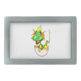 Baby dragon in egg graphic.png rectangular belt buckle