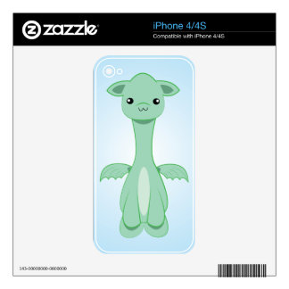Baby Dragon Kawaii iPhone skin Decals For iPhone 4