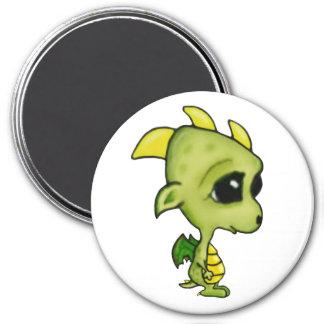 Baby Dragon 3 Inch Round Magnet