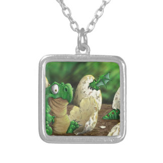 Baby Dragon Silver Plated Necklace