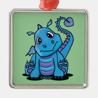 Baby Dragon Square Ornament