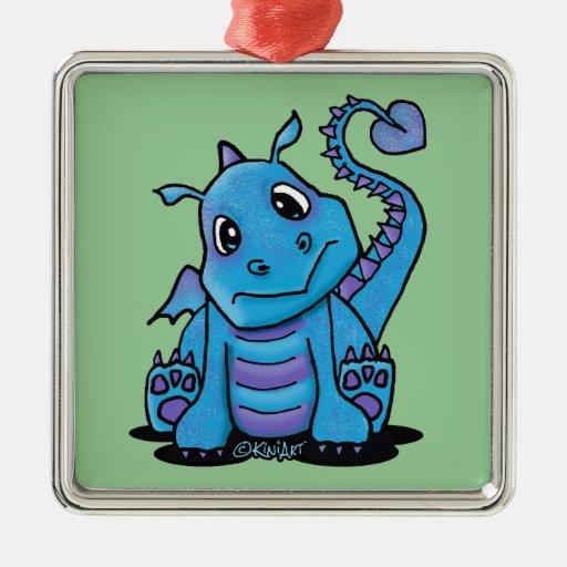 Baby Dragon Square Ornament