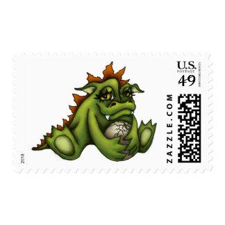 Baby dragon stamp