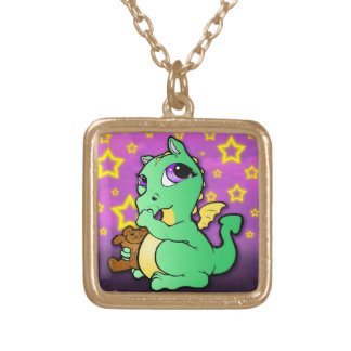 Baby dragon sucking its thumb - Necklace