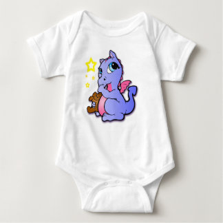 Baby dragon sucking its thumb - Purple Baby Bodysuit