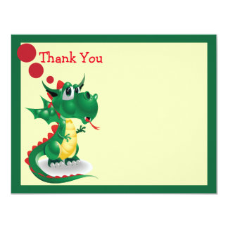 Baby Dragon Thank You Card
