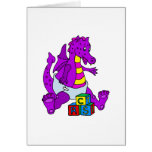 Baby Dragon with Blocks Card