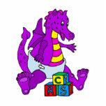 Baby Dragon with Blocks Photo Cutout