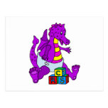 Baby Dragon with Blocks Post Cards