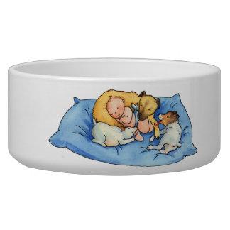 Baby Dreams on Dog Bed - Cute Dog Bowl
