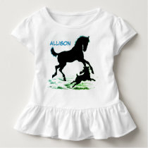 Baby Dress with Horse Silhouette