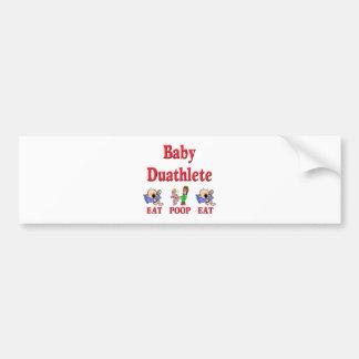Baby Duathlete 2 Bumper Sticker
