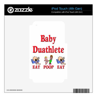 Baby Duathlete 2 Decals For iPod Touch 4G