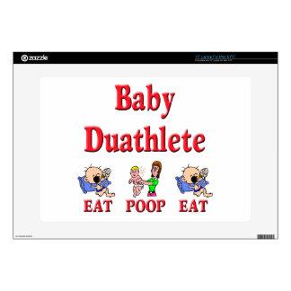 """Baby Duathlete 2 Skins For 15"""" Laptops"""