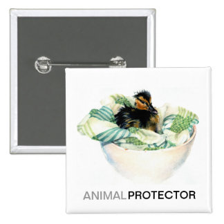 Baby Duck Animal Protector Button