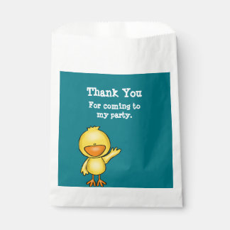 Baby Duck baby shower thank you gift bags