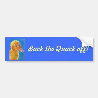 Baby Duck Car Bumper Sticker