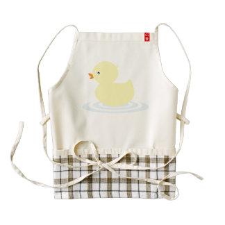 Baby duck cartoon zazzle HEART apron