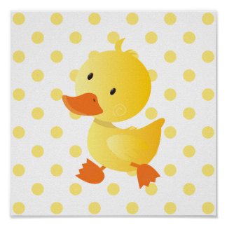 Baby Duck Cute Nursery Art Poster