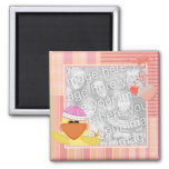 Baby duck photo frame magnet