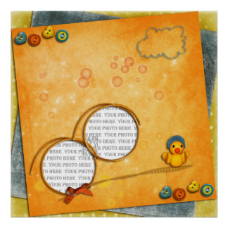 Baby Duck Photo Frame Poster (from $10.45)