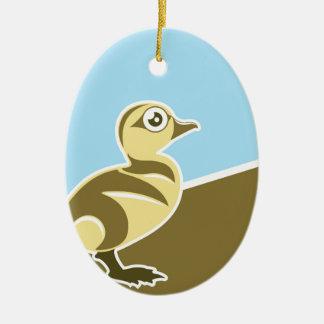 Baby Duck vector Ceramic Ornament