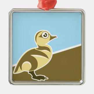 Baby Duck vector Metal Ornament