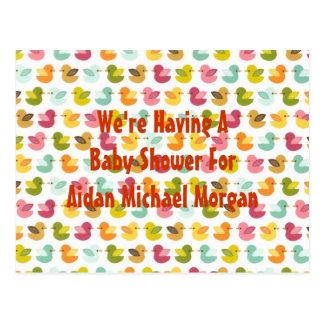 Baby Duckies Adoption or Birth Announcement Postcard