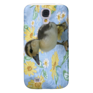 baby duckling on flowered background left galaxy s4 case