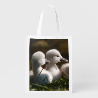 baby ducklings photo reusable grocery bag