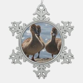 Baby Ducklings Snowflake Ornament