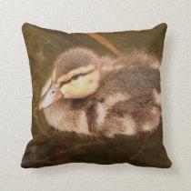 Baby Ducks Duckling Bird Wildlife Animals Mallard Throw Pillow
