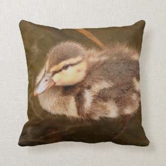 Baby Ducks Duckling Bird Wildlife Animals Mallard Throw Pillow