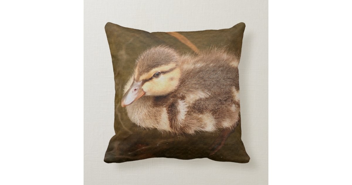 Baby Ducks Duckling Bird Wildlife Animals Mallard Throw Pillow Zazzle Com
