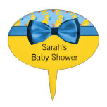 Baby Ducks In Yellow & Blue Baby Shower Cake Topper