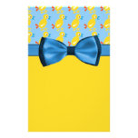 Baby Ducks In Yellow & Blue Baby Shower Custom Stationery