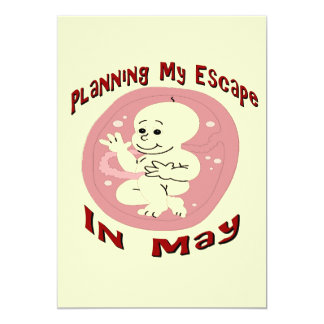 Baby Due In May Card