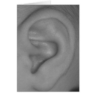 Baby Ear (blank inside) Card