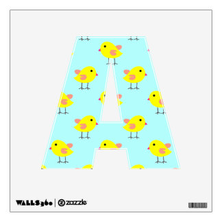 Baby Easter Chicks in Yellow and Aqua Wall Decal