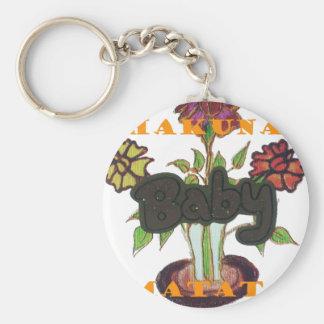 Baby Eco Hakuna Matata gifts Basic Round Button Keychain
