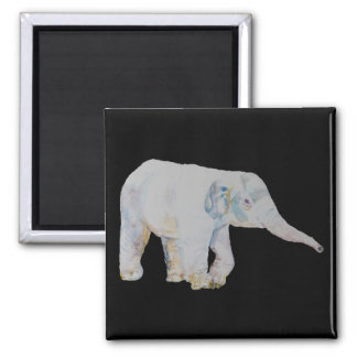 Baby Elephant 2 Inch Square Magnet