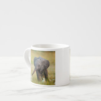 Baby Elephant and Birds Espresso Cup