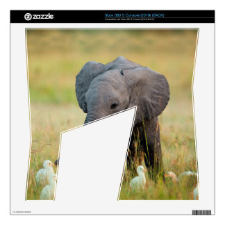 Baby Elephant and Birds Skin For The Xbox 360 S