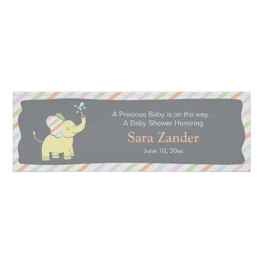 Baby Elephant     Baby Shower Banner Posters