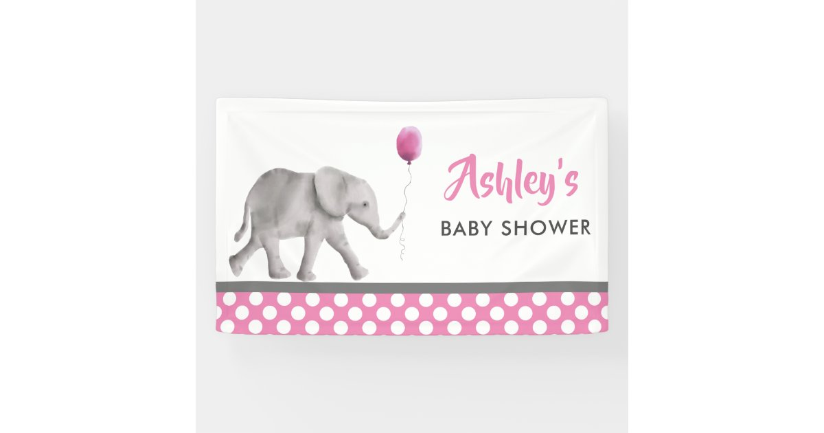 Baby Elephant Baby Shower Banner Welcome Sign Zazzle Com