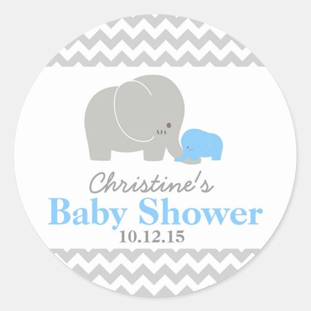 Baby Shower Favor Cards Part - 27: Baby Elephant Baby Shower Favor Labels | Zazzle.com