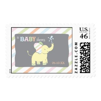 Baby Elephant   Baby Shower Stamp