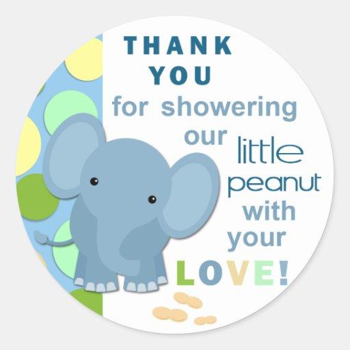 Baby Shower Elephant Stickers ~ Baby elephant shower sticker zazzle