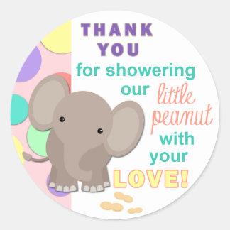 Baby Elephant Baby Shower Sticker