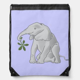 Baby Elephant Bag Drawstring Backpack